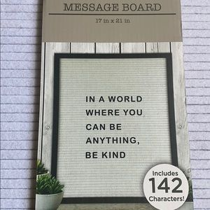 """Message Letterboard 17x21"""" New"""